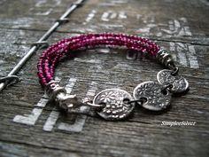 Handmade Multi Strand bracelets | Reserved - Multi Strand Garnet Bracelet - Handmade Artisan Bracelet ...