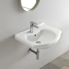 Bathroom Sink Rectangular White Ceramic Wall Mounted or Drop In Sink CeraStyle Drop In Bathroom Sinks, Drop In Sink, Zen Bathroom, Wall Mounted Bathroom Sinks, Bathroom Layout, Bathroom Fixtures, Bathroom Flooring, Modern Bathroom, Bathroom Ideas