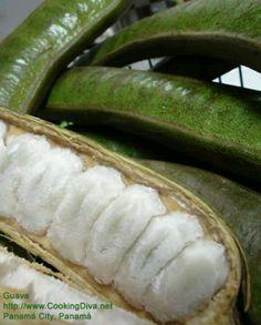 Cooking with Guava, Guaba (Inga punctata Wild) Fruit And Veg, Fruits And Vegetables, Fresh Fruit, Panamanian Food, Honduran Food, Nicaraguan Food, Costa Rican Food, Strange Fruit, Colombian Food