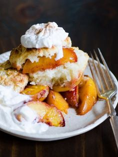 Recipe: Sweet Biscuits with Roasted Peaches
