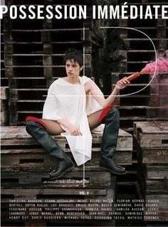 Aida Becheanu By Luc Braquet (apparently for Possession immédiate Magazine)  milk management london / silent paris / mandarina models romania