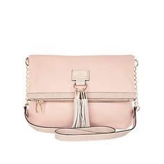 light pink tassel front messenger bag - cross body bags - bags / purses - women - River Island