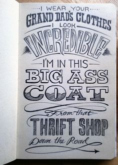 Thrift Shop Typography by Jaclyn Le. 20 Magnificent Examples of Typography. #typography #design #inspiration