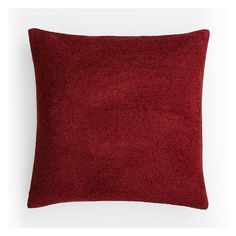 """West Elm Textured Boucle Pillow Cover, 18""""x18"""", Deep Scarlet ($21) ❤ liked on Polyvore featuring home, home decor, throw pillows, textured throw pillows, west elm throw pillows, zippered throw pillows, west elm and texture home decor"""
