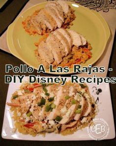 Pollo A Las Rajas Recipe from San Angel Inn Restaurante at Epcot annette@wishesfamilytravel.com