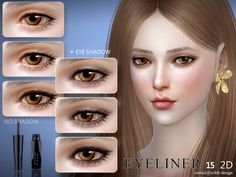 The Sims Resource: Eyeliner 15 by S-Club • Sims 4 Downloads