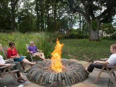 Outdoor Fireplace Design Ideas | Outdoor Design - Landscaping Ideas, Porches, Decks, & Patios | HGTV