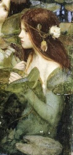 """Nymph"" - Pintura a óleo sobre tela de John William Waterhouse                                                                                                                                                                                 Más"