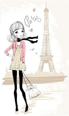 Girl in Paris by Natalia Skripko