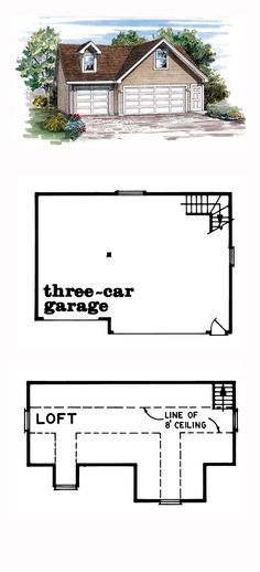 1000 images about 3 car garage plans on pinterest for Garage bc automobile chateauroux
