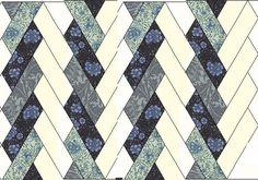 Free Pattern - Threadneedle Street Jelly Roll Pattern by Barbara Brackman