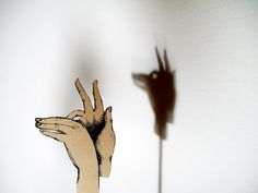 Lyndie Dourthe Heart Hands, Hand Heart, Superstition, Shadow Theatre, Diy Toys, Just For Fun, Art Education, Shadows, Paper Art