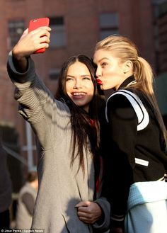 Selfie time! The girls took a moment to remember the shoot...