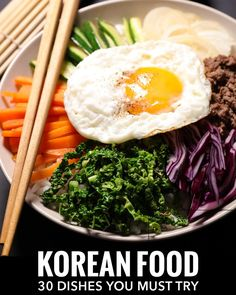 The Ultimate Guide to Korean food: 30 dishes you need to try in South Korea or at your favourite Korean restaurant. There's so much more than just kimchi.