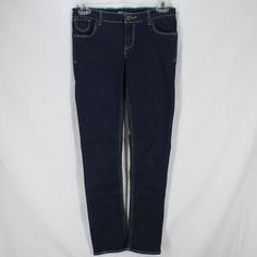 4eb7afe4775 Levis Skinny Jeans Girls Sz 12 Dark Wash Blue Stretch Denim Adjustable  Waist  Levis
