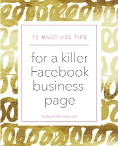 10 Tips for a Killer Facebook Business Page www.smartseoservi...