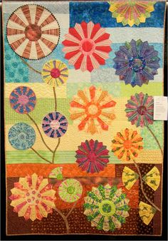 """""""Indian Summer"""" by Gerry Fischer, 2013 Arizona Quilters' Guild show.  Design by Kathy Doughty, photo by Quilt Inspiration"""