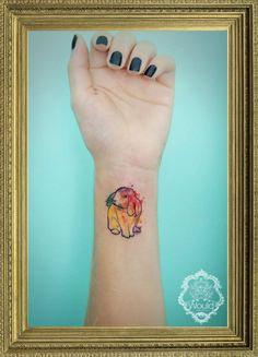 Dream watercolour bunny tattoo  Would Tattoo Studio  [Argentina]
