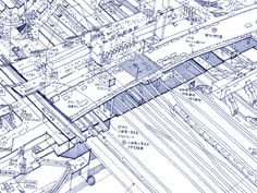Get up close and personal with Tomoyuki Tanaka's hand-drawn illustrations of Tokyo's sprawling transit hubs.