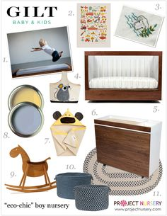 Boys Eco-Chic Nursery by Project Nursery for GILT baby & kids.
