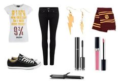 """HARRY POTTER FAN"" by jwehausen ❤ liked on Polyvore featuring Paige Denim, Converse, Bonbi Forest, GHD, Chanel, Christian Dior and theboywholived"