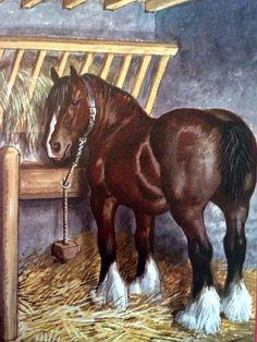 Ladybird book illustration - farm horse