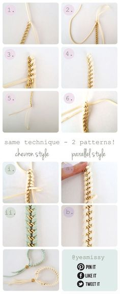 Yesmissy-chain-woven-bracelet-tutorial