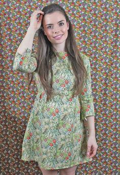 William+Morris+Golden+Lilly+60s+Style+Dress