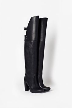 Phillip Lim Ora Over the Knee Boot Hi Fashion, Fashion Forever, Riding Boots, Riding Gear, Cute Boots, Designer Sandals, Dream Shoes, Leather Boots, Black Leather