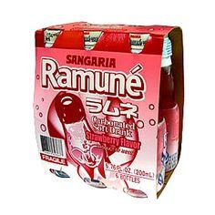 SANGARIA RAMUNE DRINK STRAWBWRRY FLAVOR (6.76FL.OZx6) 6 BOTTLES