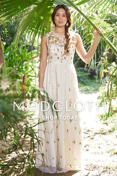 Shop for Wedding Dresses, Bridesmaid's Dresses, and revel in romance at the ModCloth Wedding boutique. Outdoor Wedding Guest Dresses, Wedding Guest Updo, Wedding Guest Hairstyles, Perfect Wedding Dress, Wedding Party Dresses, Bridal Dresses, Bride Gowns, Trendy Wedding, Unique Weddings