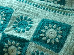 I love this pattern! The squares are easy to make and really sweet. The one thing I had immense trouble with was the assembly. Not that it's at all difficult - just a whip stitch. I just have trou. Baby Afghan Crochet, Baby Afghans, Baby Boy Blankets, Afghan Crochet Patterns, Crochet Motif, Knit Crochet, Crochet Blankets, Love Crochet, Crochet For Kids