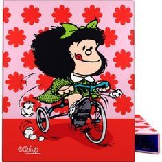 Carpeta anillas A4 Mafalda Flores de Grafoplas