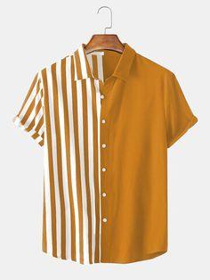 Casual Shirts For Men, Men Casual, Collar Shirts, Mens Collared Shirts, Printed Shirts, Shirt Style, Cool Outfits, Shirt Designs, Menswear