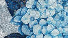 Handmade contemporary mosaic design composed of high-end glass tiles that is guaranteed to transform your space. Mosaic Crafts, Mosaic Projects, Marble Mosaic, Mosaic Tiles, Glass Tiles, Mosaic Glass Art, Wood Tiles, Blue Mosaic, Cement Tiles