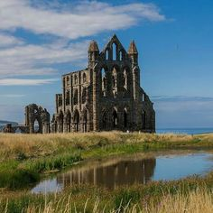 Standing proudly on a headland with breathtaking views over the seaside town of Whitby, it's easy to see how the magnificent Whitby Abbey inspired Bram Stoker's gothic novel 'Dracula'. Look closely enough at the romantic ruins and you'll discover remnants of intricate carvings from the 13th century. http://eht.to/91
