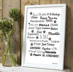 PRE COMMANDE Affiche citation Nom toreros : Décorations murales par tauromarion
