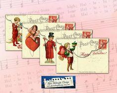 Valentine Envelope No 4 Vintage envelope by aftermidnightdesign