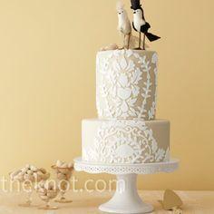 Lace Wedding Cakes Vintage Lace Wedding Cake – The Knot