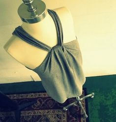 Diy Crafts: DIY: No Sew T-Shirt Halter