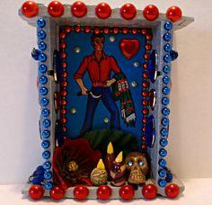 Day of the Dead Loteria Nicho Dia de los Muertos by CherryPicks