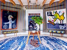 Inside Robert Downey Jr.'s Whimsical Windmill House in the Hamptons: 'We Definitely Don't Like Boring' | The actor and his family create a one-of-a-kind summer retreat.
