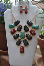 Necklace & Earrings Set Multi-Color by Natasha, $30