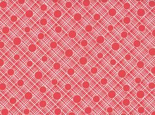 Babs Crosshatch Circle Cotton Red