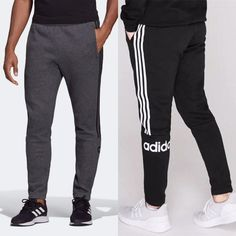 Bundle adidas Men's Jogger. Side pockets Elastic waist and draw string stripes Tapered leg Brand logo on back left leg Machine washable Size available: Medium, Large, and X-Large Medium - waist inseam Large - waist inseam X-Large - waist inseam Mens Jogger Pants, Jogger Sweatpants, Mens Casual Dress Outfits, Sewing Clipart, Leg Machines, Hair Tools, Athletic Wear, Adidas Men, Elastic Waist