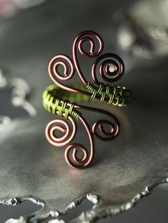 Bronze and Moss Green Woven Spiral Copper Ring by Moss & Mist Jewelry | Flickr - Photo Sharing!