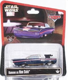 Disney Star Wars Pixar Cars Ramone as Han Solo 1/55 Die-Cast Series 2 - Theme Park Exclusive Limited Edition Disney http://www.amazon.com/dp/B00KFXLGPU/ref=cm_sw_r_pi_dp_kmEKtb09VH5F0NJB