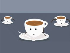 Coffee Gif, Coffee Love, Coffee Shop, Animated Icons, Animated Gif, Gif Mania, Good Night Greetings, Good Morning Gif, Cartoon Gifs