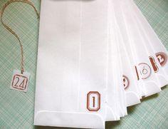Diy advent envelopes for advent calender
