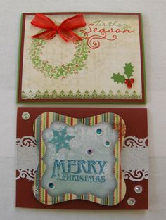 Cards 5 & 6 for Bo Bunny Christmas Card Workshop being offered on October 5 from 10:30 - 4:00 and on October 9 from 11:00 - 4:30.
